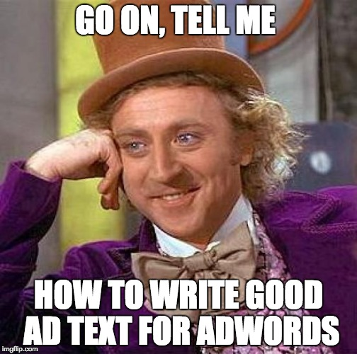 how to write google adwords ad text