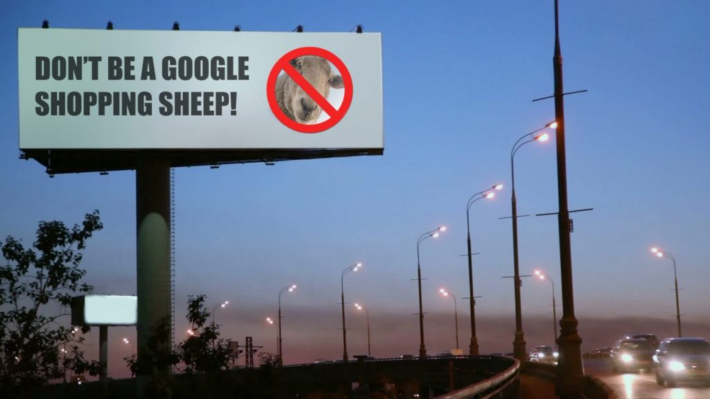 Dont be a google shopping sheep image