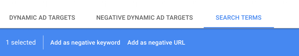 Creating dynamic targets in the new Google Ads interface