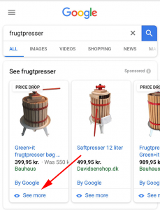 "Google Introduce ""See More"" Button On Shopping Ads"