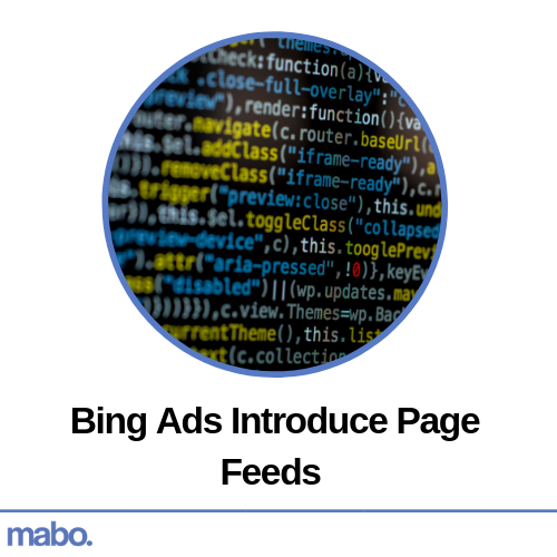 Bing Ads Introduce Page Feeds