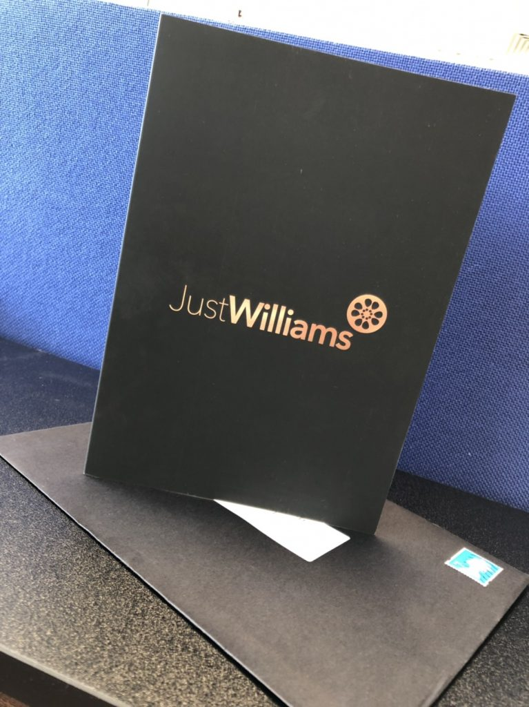 Just Williams Thank You Card