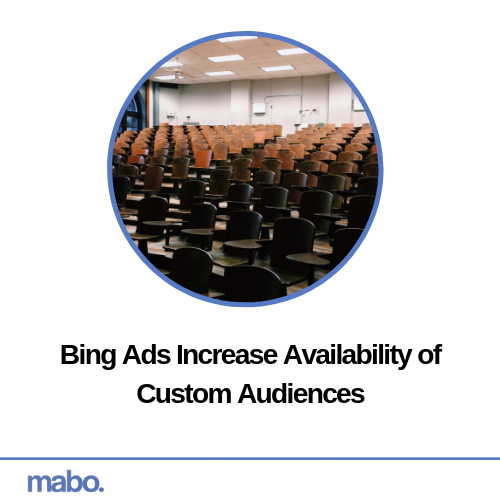 Bing Ads Increase Availability of Custom Audiences