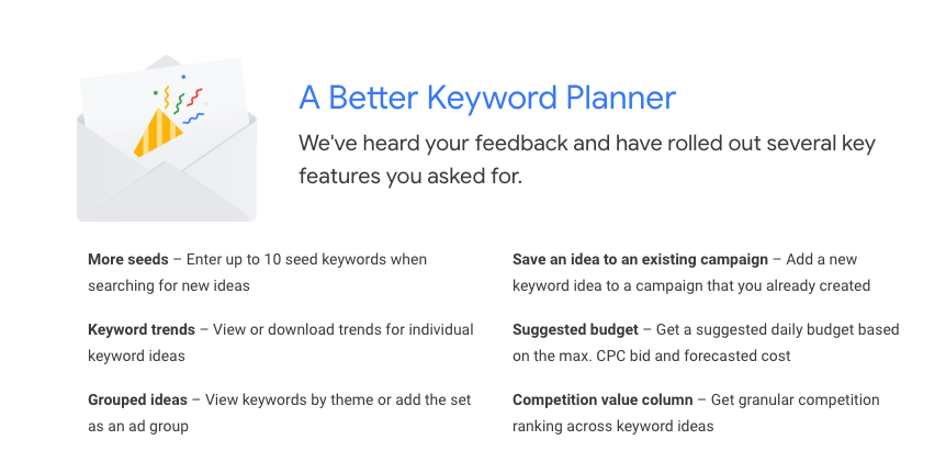 A Better Keyword Planner Tool