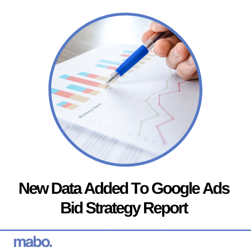 New Data Added To Google Ads Bid Strategy Report