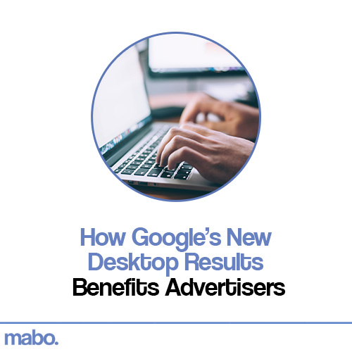 How Google's New Desktop Results Benefits Advertisers by Peter Calvert, Mabo Media