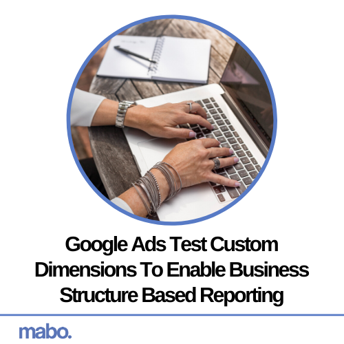 Google Ads Test Custom Dimensions To Enable Business Structure Based Reporting