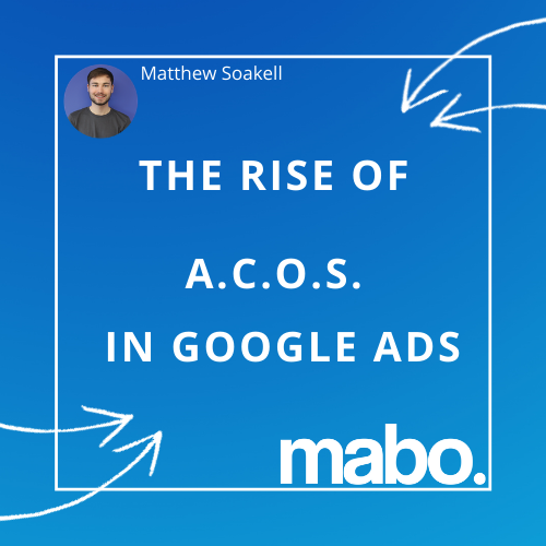 The Rise of ACOS in Google Ads